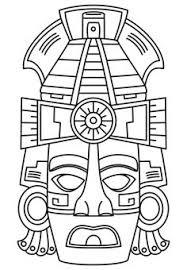 imagenes mayas para imprimir mandalas para colorear estela maya geroglifico y cara de los mayas y