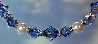 pearl beaded bracelet images Swarovski sapphire ab crystal white pearl beaded bracelet jpg