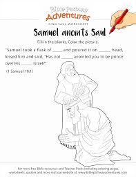 Samuel Anoints King Saul Worksheet Coloring Page Free Download Samuel Coloring Pages