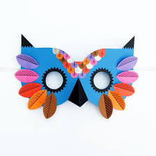 owl mask paper owl mask mini eco bloglovin