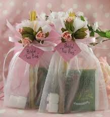 bridal tea party favors how to make tea bag favors honey sticks sugar cubes and organza