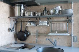 Compact Kitchen Units by Kitchen Stainless Steel Floating Shelves Kitchen Bar Garage