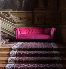Velvet Chesterfield Sofa by The Camden Sofa In Cerise Velvet A Beautiful Pink Velvet