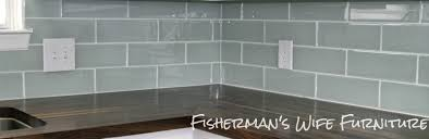 interesting light blue subway tile backsplash images design