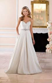 structured wedding dress wedding dresses structured gown with pockets stella york