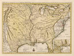 Ancient Map 1730 Carte De La Louisiane Et Du Cours Du Mississipi Dressee Sur
