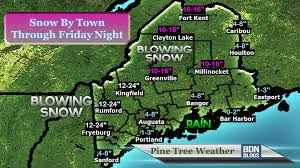 Map Of Maine Coast Nor U0027easter To Bring Heavy Snow Wind To Maine Thursday Pine Tree