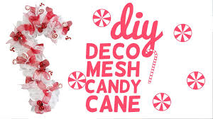 deco mesh candy cane youtube