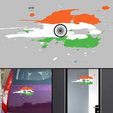 Flag Car Decals Walldesign India Flag Jai Bharath Flag Car Stickers For Body