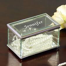 personalized jewelry box engraved beveled glass jewelry box trophycentral