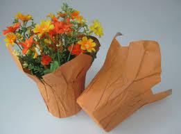 flower pot sale unique kraft paper flower flower pot sleeves flower packaging