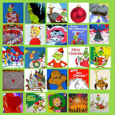 my own grinch bingo card i found 25 different images on google