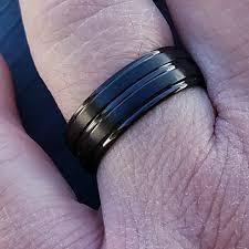 black titanium mens wedding bands black titanium men s wedding ring wedding band from s