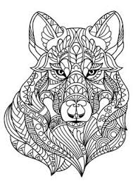 tabby cat coloring pages print high quality wolf mandala coloring pages u2026 pinteres u2026