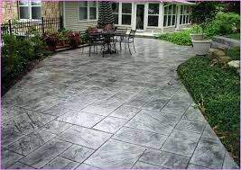 2017 Stamped Concrete Patio Cost Stamped Concrete Backyard U2013 Mobiledave Me