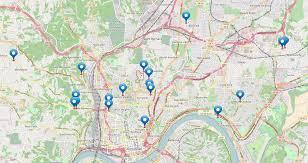 Map Of Cincinnati A Running List Of Cincinnati Building Demolitions Kunst