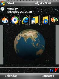 theme download for my pc spinnng earth animated theme v1 00 freeware for windows mobile phone