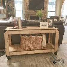 free plans diy console table and youtube video shanty 2 chic
