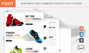foot premium responsive html ecommerce template for footwear