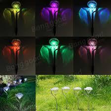 4pcs solar led color changing ls lawn garden path light