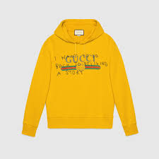 w2c gucci x coco capitan yellow hoodie best version designerreps