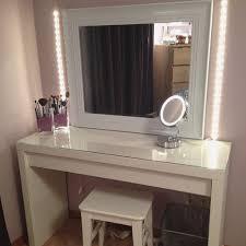 Square Vanity Mirror Lighted Vanity Mirror Table Top Nuhsyr Co