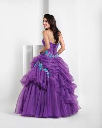 purple ball gown strapless full length quinceanera dresses with