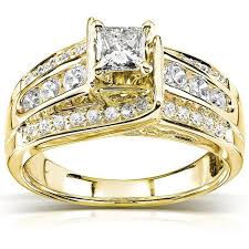 gold diamond engagement rings 1 carat diamond engagement ring in yellow gold jewelocean