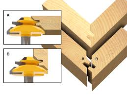 45 degree lock miter bit 3 pc glue joint set 15334 router bits