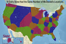 United States On A Map by Dunkin U0027 Donuts Map What America Would Look Like If Our State