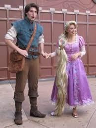 Tangled Halloween Costume Adults Cosplay Disney Flynn Rider Rapunzel Face
