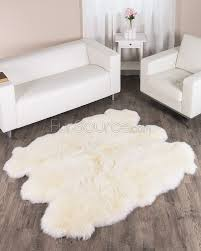 Animal Skin Rugs For Sale 6 Pelt Eggshell White Sheep Fur Rug Sexto Fursource Com