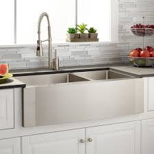 stainless steel farmhouse sink freestanding linen cabinet brushed