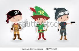Boy Costumes Boy Costumes Set Vector Stock Vector 207763048 Shutterstock