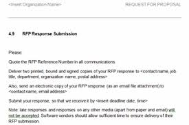 7 response to rfp template actor resumed