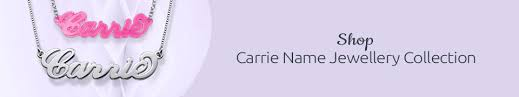 Carrie Name Necklace Carrie Style Name Necklaces Carrie Name Jewellery Mynamenecklace Uk