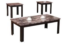 3 piece coffee table set andover mills cecil marble top 3 piece coffee table set reviews