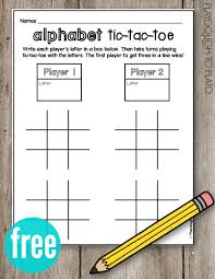 abc writing paper abc tic tac toe playdough to plato what a fun abc game for kids so