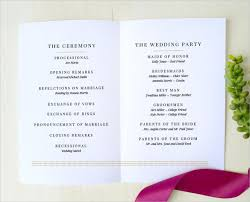 formal wedding programs wedding program templates free premium templates