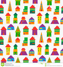 cute house pattern royalty free stock photos image 32018088