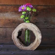 wood log vases log vases 28 images rustic log serpentine vase aspen wood home