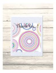 mandala wedding thank you cards customizable printable digital