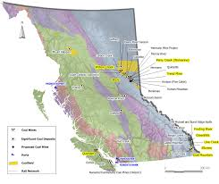 British Columbia Canada Map by Coal