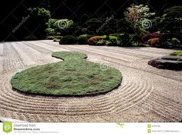 japanese zen garden in oregon royalty free stock images image