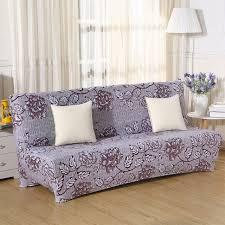 couverture pour canapé pliage canapé couvre élastique aucun accoudoir canapé couvre imprimé