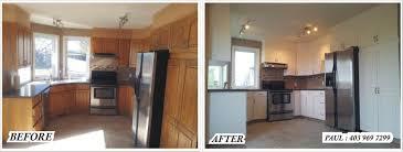 kitchen refinishing woodwork spray painting alta pro painting