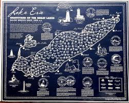 Lake Erie Map Lake Erie Graveyard Of The Great Lakes Major Wrecks Since 1600
