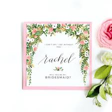 bridesmaid invitations template template will you be my flower girl card template