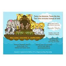 noah ark baby shower noah s ark baby shower invitation zazzle