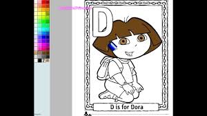 dora the explorer coloring pages dora the explorer painting